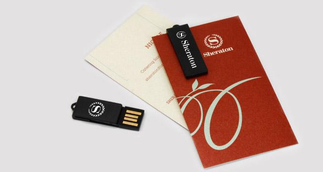 Usb personalizados en forma de clip para hoteles