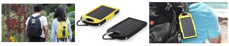 Batería externa con panel solar Powerextreme