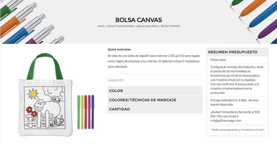 Bolsa y lápices personalizados de Bolígrafopublicidad.es