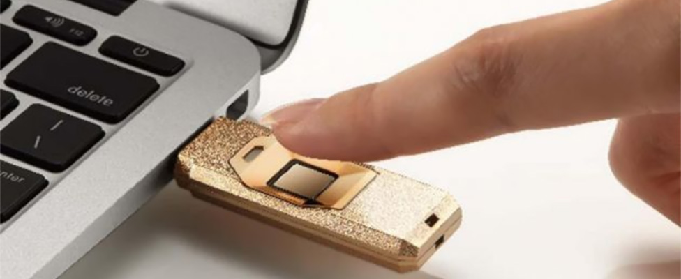 Máxima seguridad en USB personalizados: reconocimiento de huella