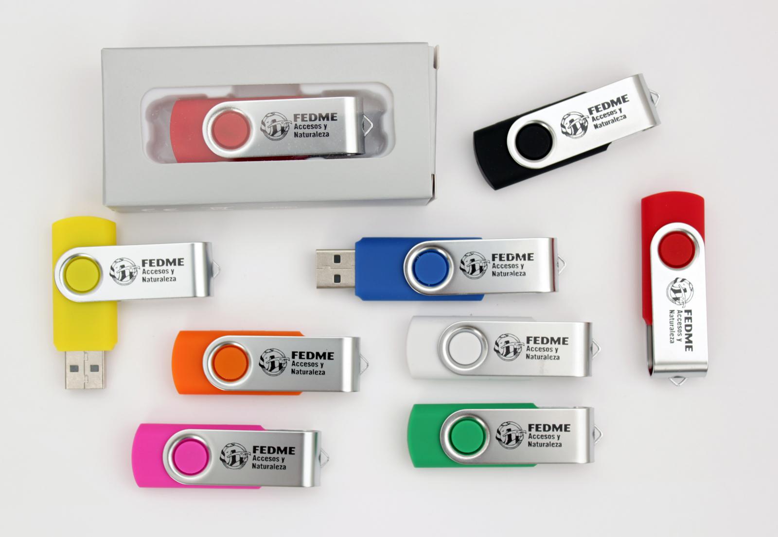 Los USB promocionales sufren el impacto de la aplicación del nuevo canon digital