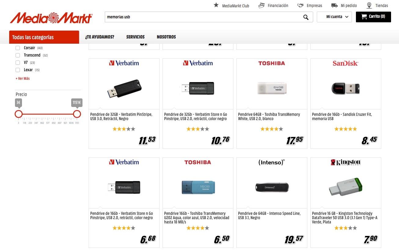 Memorias externas USB de menos de 16 GB: ¿por qué no las encuentro en las tiendas?