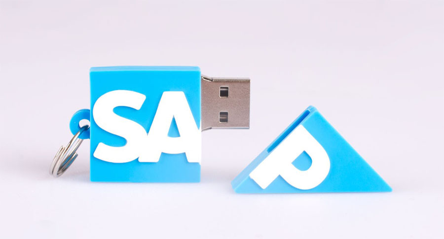 Memoria usb con forma de logo de SAP
