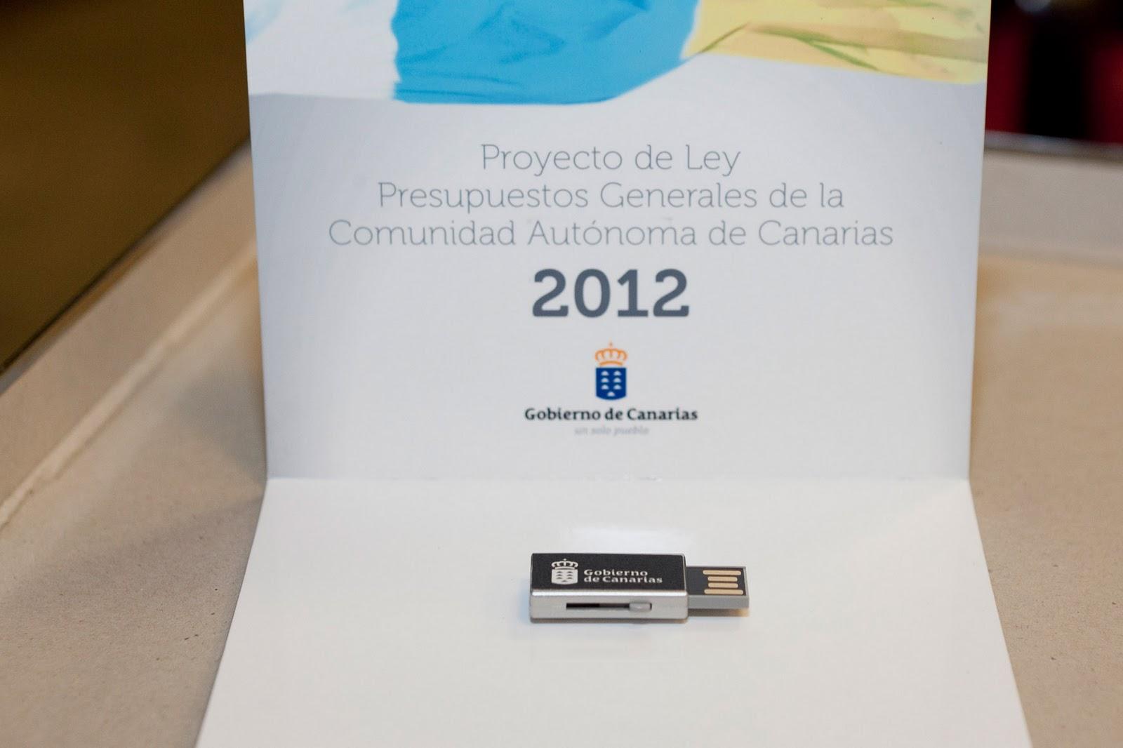 Memorias usb personalizadas gobierno de Canarias
