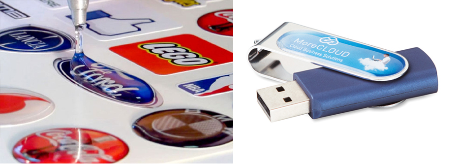 Memoria usb giratoria personalizada con gota de resina