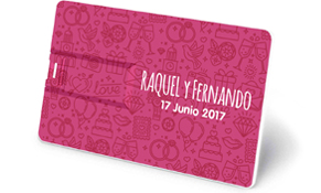 tarjeta usb personaliza para bodas