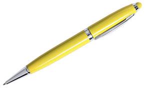 Bolígrafo usb amarillo