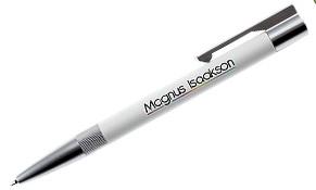 Bolígrafo usb lux blanco