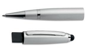 Bolígrafo usb plateado