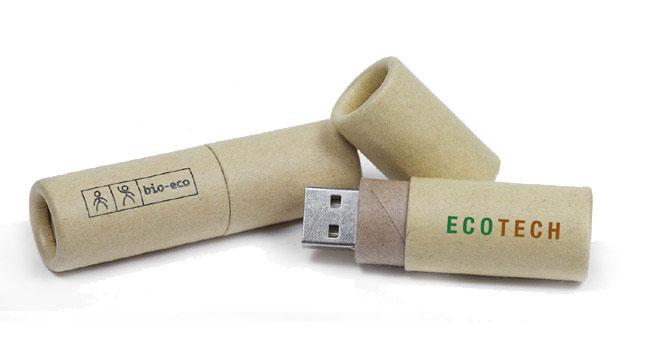 usb de cartón reciclado