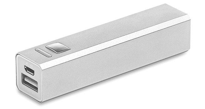 bateria externa personalizada de aluminio