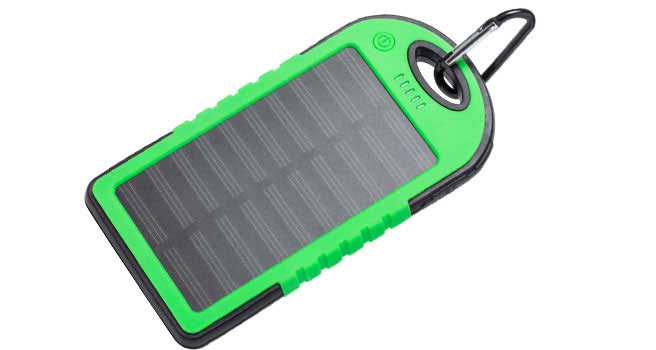 powerbank con paneles solares
