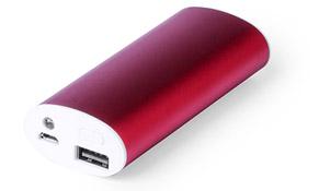 Powerbank Powerled color Rojo