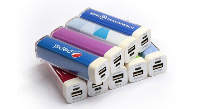 powerbank promocional con indicador led