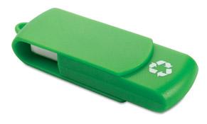 usb reciclado verde