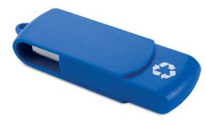 usb reciclado azul