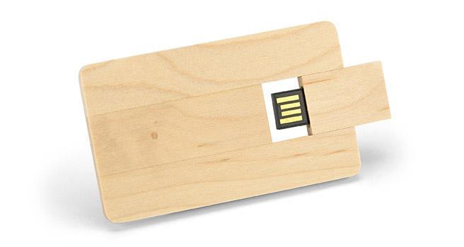 Tarjeta usb promocional de madera