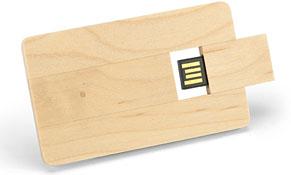 tarjeta usb de madera