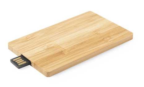 Tarjeta USB bambú promocional