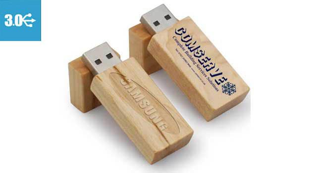 memoria usb 3.0 madera publicidad