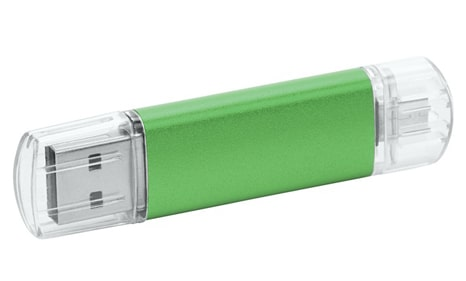 Pendrives metal para empresa color verde
