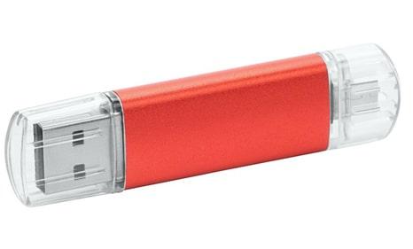 Memorias USB metal promocionales color rojo