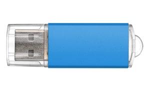 Pendrives de metal publicidad color azul