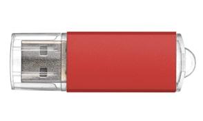 Pendrive metálico personalizable color rojo