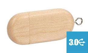 usb 3.0 ovalado de madera