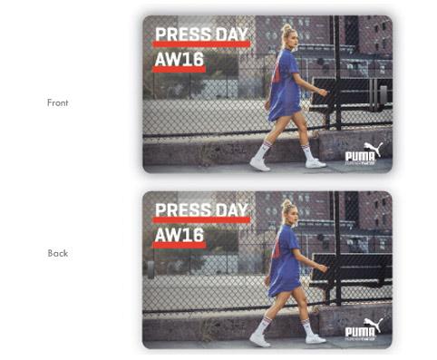 tarjetas usb promocionales para Puma