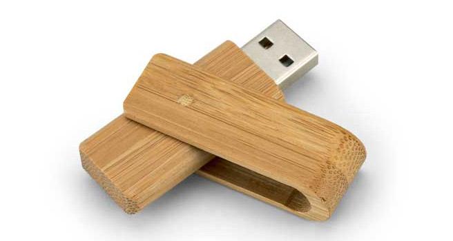 pendrive de bambú personalizada