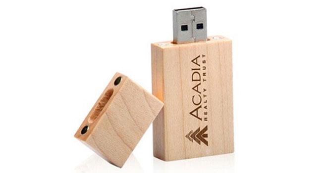 usb de madera publicidad