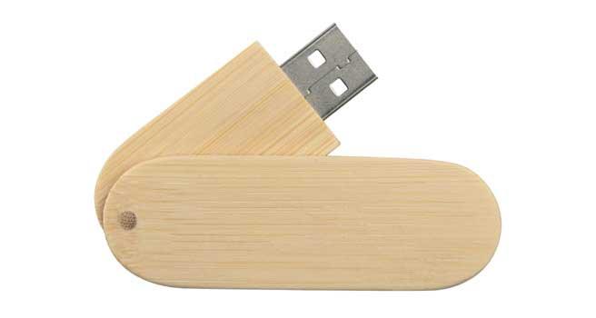 usb ecológico de madera