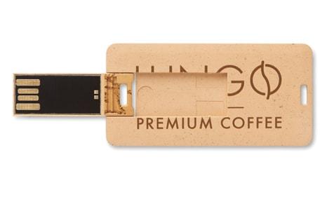 Tarjetas USB con logotipo ecológicas