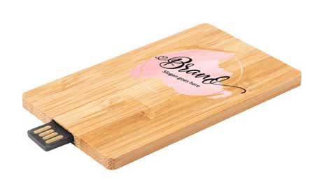 Tarjeta USB personalizada de bambú