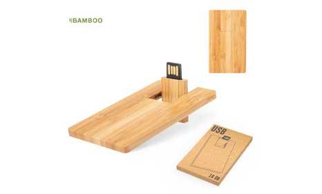 Tarjetas USB de bambú publicitarias