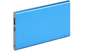 Powercard slim alu Azul