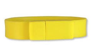Pulsera usb amarilla