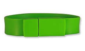 Pulsera usb verde