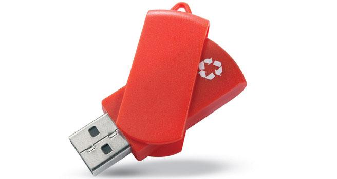usb personalizado reciclado