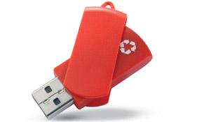 usb reciclado rojo